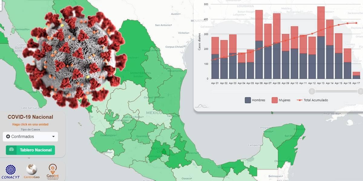 Coronavirus: CONACYT libera el mapa más completo de contagios de Coronavirus Covid-19 en México