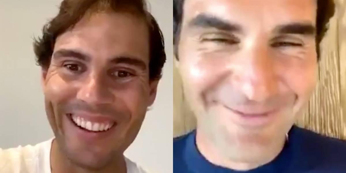 VIDEO | Roger Federer le hizo la pregunta del millón a Rafael Nadal y su respuesta generó risas