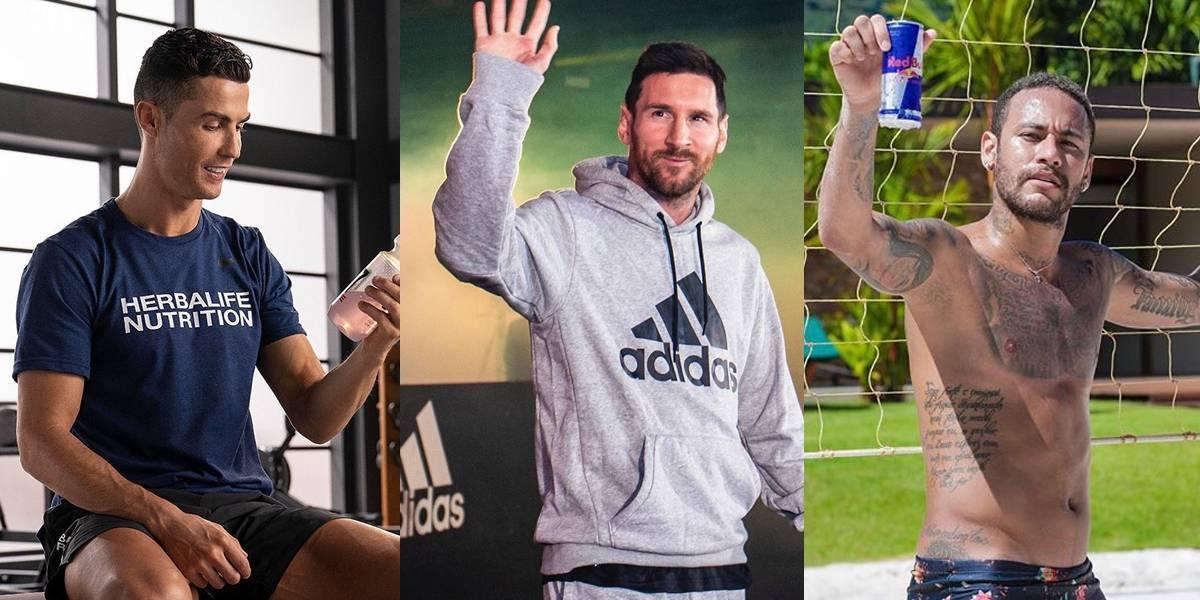 Os jogadores de futebol mais bem pagos (no Instagram)