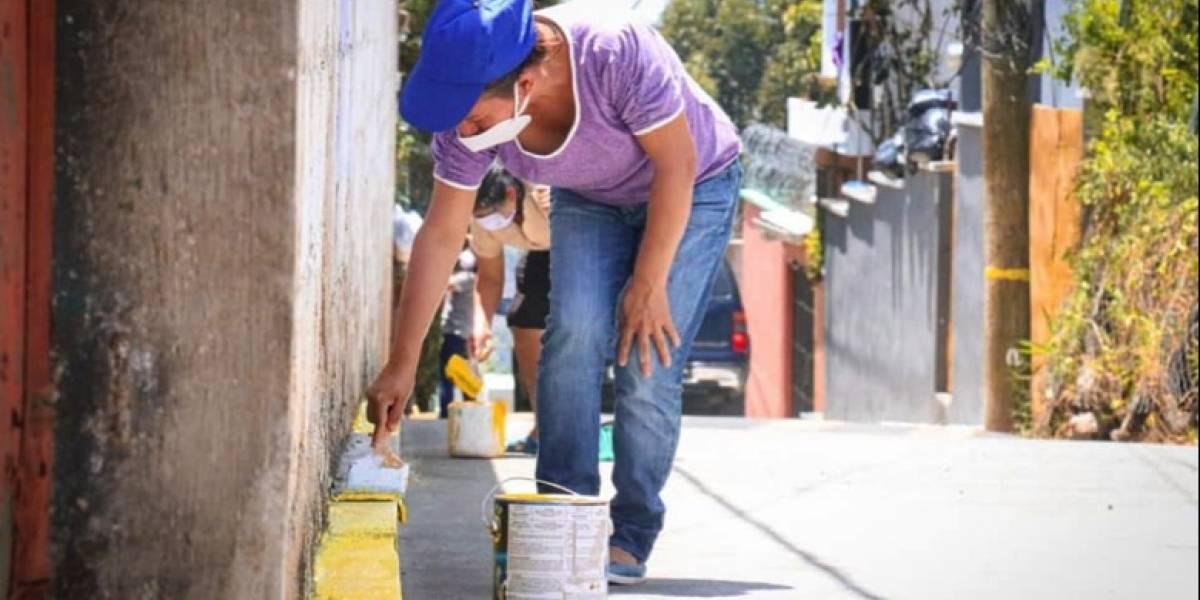 Donativo de pintura apoyará a vecinos de Santa Catarina Pinula