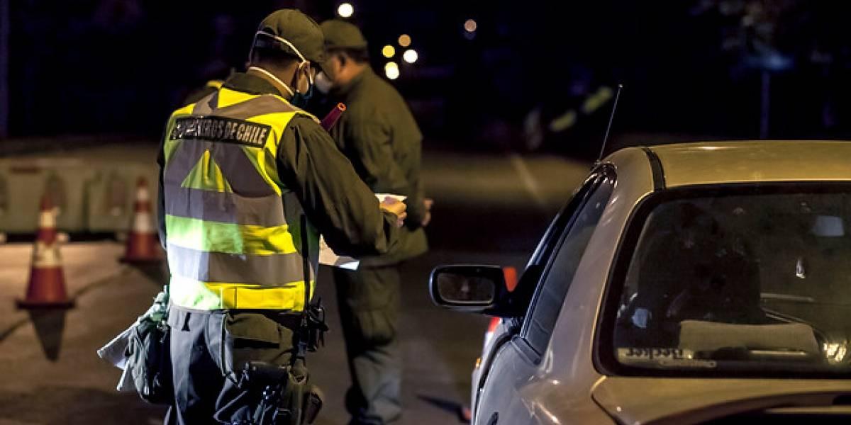 Carabineros retuvo a 542 personas a nivel nacional por no acatar toque de queda
