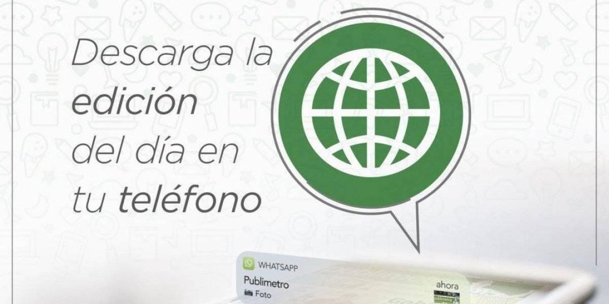 Recibe gratis la edición impresa de Publimetro por WhatsApp