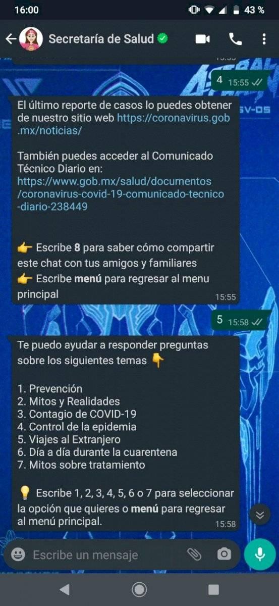 WhatsApp Susana Distancia