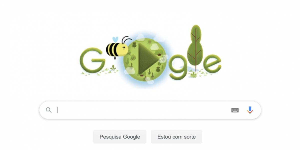 Google compartilha doodle para comemorar dia da Terra