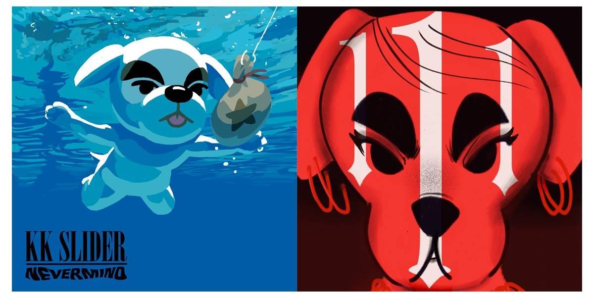 Capas de álbuns ganham releituras com personagem de 'Animal Crossing'