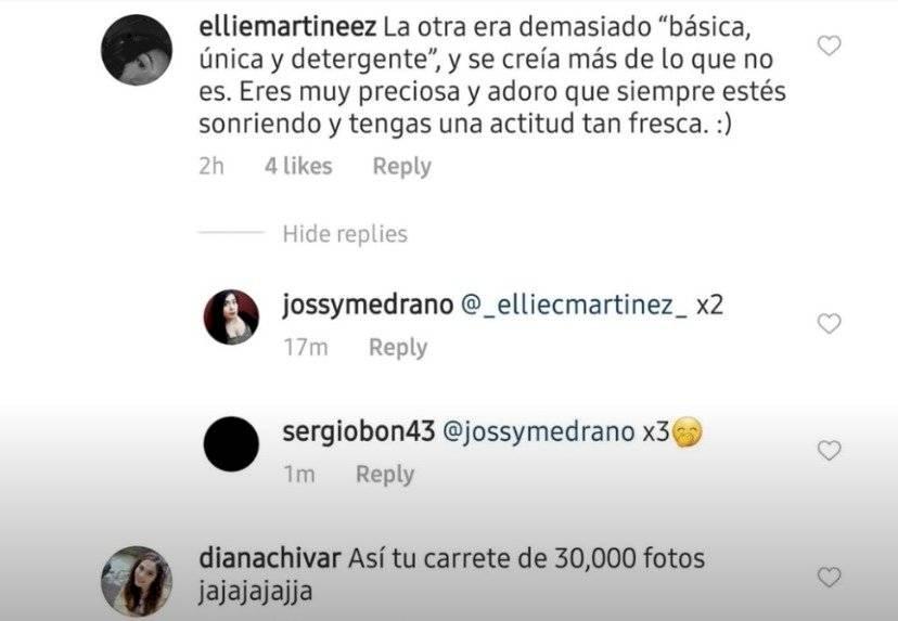 Comentario que le dejaron a Arianny Tenorio en sus redes