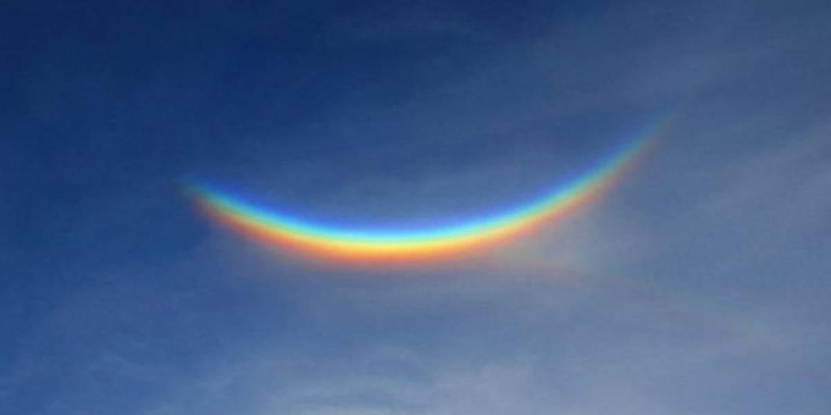 Arco-íris invertido aparece no céu e viraliza como um sinal de esperança