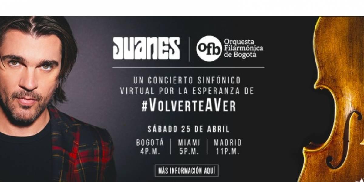 Juanes y la Orquesta Filarmónica de Bogotá se unen en un concierto de regalo para Colombia