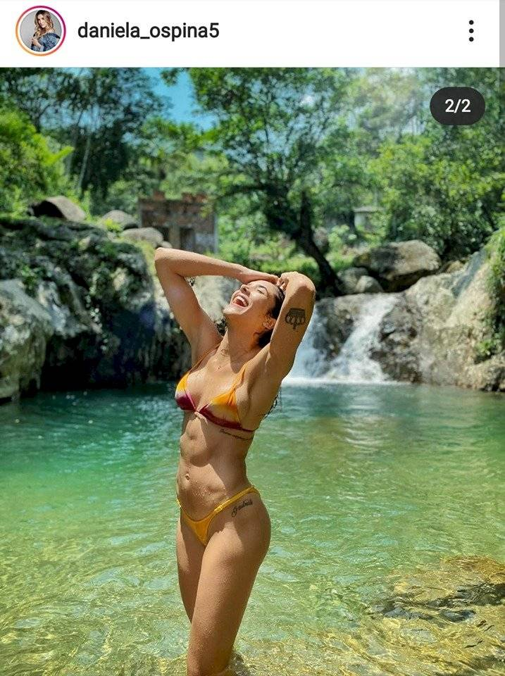 Daniela Ospina comparte sexy foto en Semuc Champey Guatemala