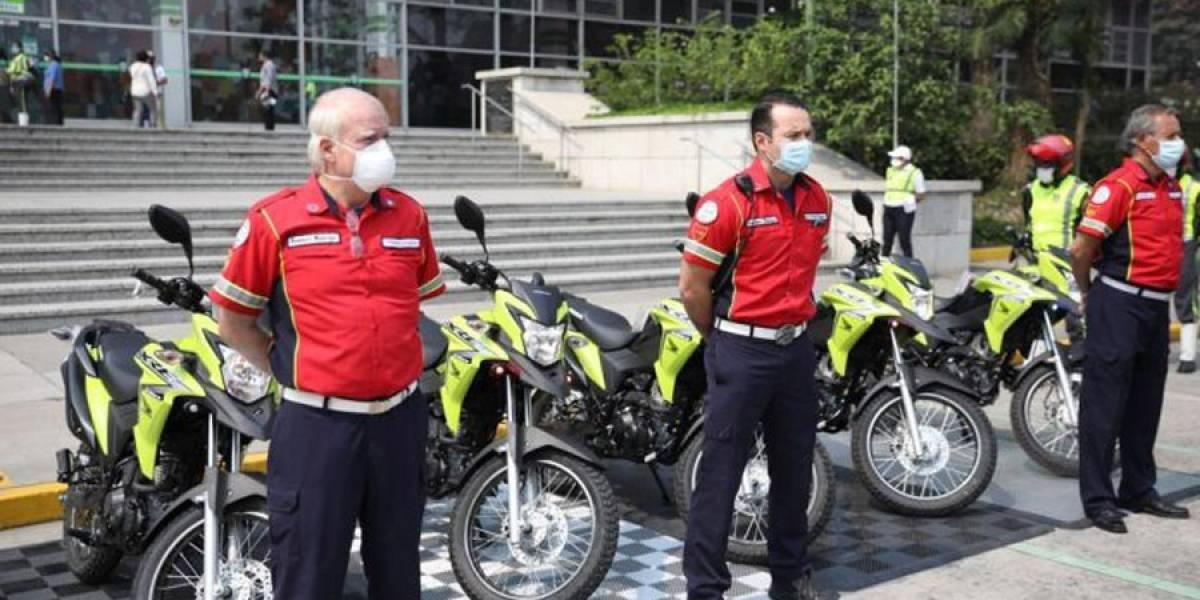 Donan motocicletas a Bomberos Municipales para emergencias por Covid-19