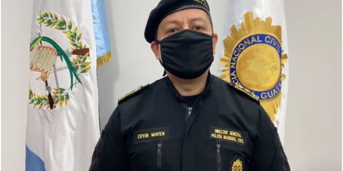 Director de la PNC denuncia que el IGSS deja a los agentes con COVID-19 en el piso