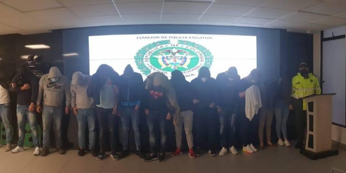 Capturan en Bogotá a 14 personas violando la cuarentena en un billar