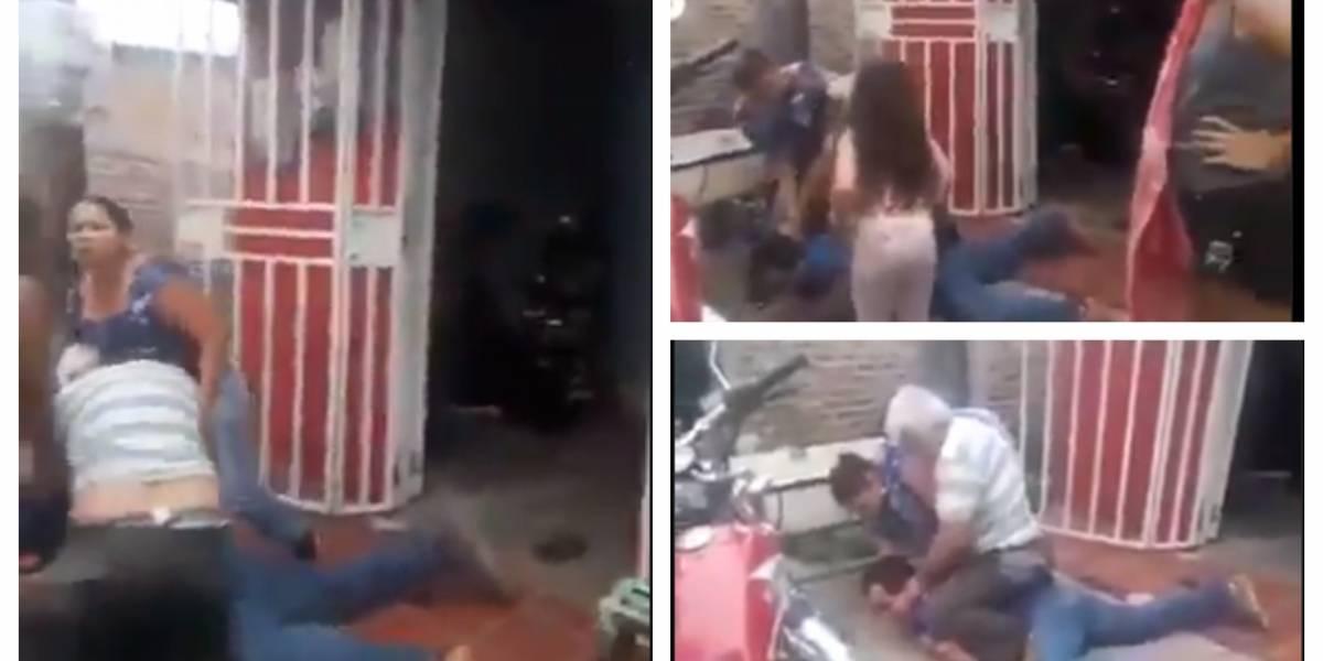 (VIDEO) Propietario golpea brutalmente a inquilino que no tiene para el arriendo