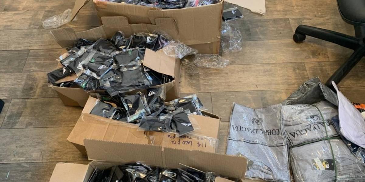 Polícia apreende 5 mil máscaras com logo de marcas falsificadas em SP