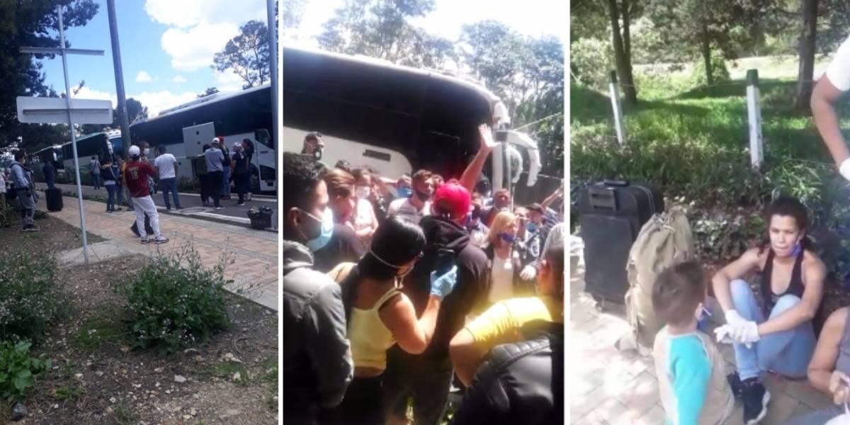 Decenas de venezolanos denuncian que no los dejan salir del país