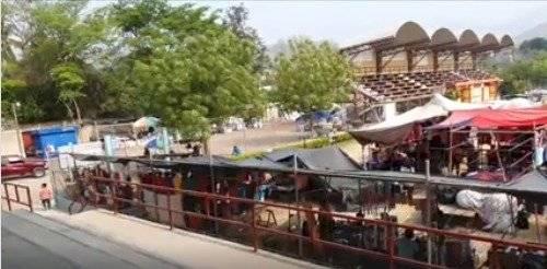Estadio Olimpia de Jocotán está siendo utilizado como mercado