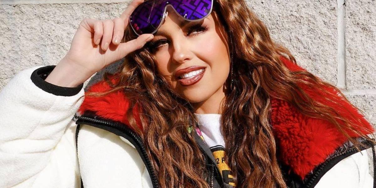 Thalía muestra su verdadera apariencia sin maquillaje y con rizos naturales