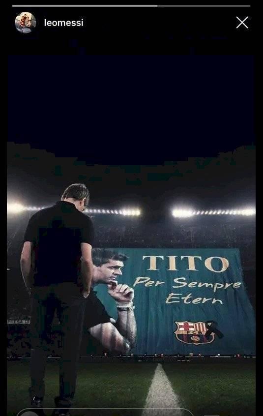 Messi homenaje a Tito Vilanova