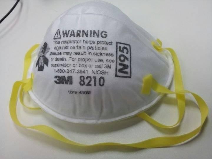 Accidente mascarilla N95