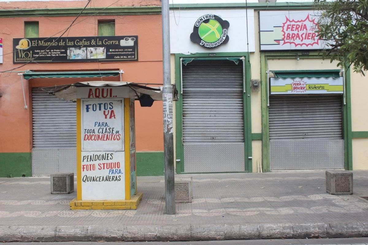 Comercio en el centro cerrado en la cuarentena. Jairo Cassiani