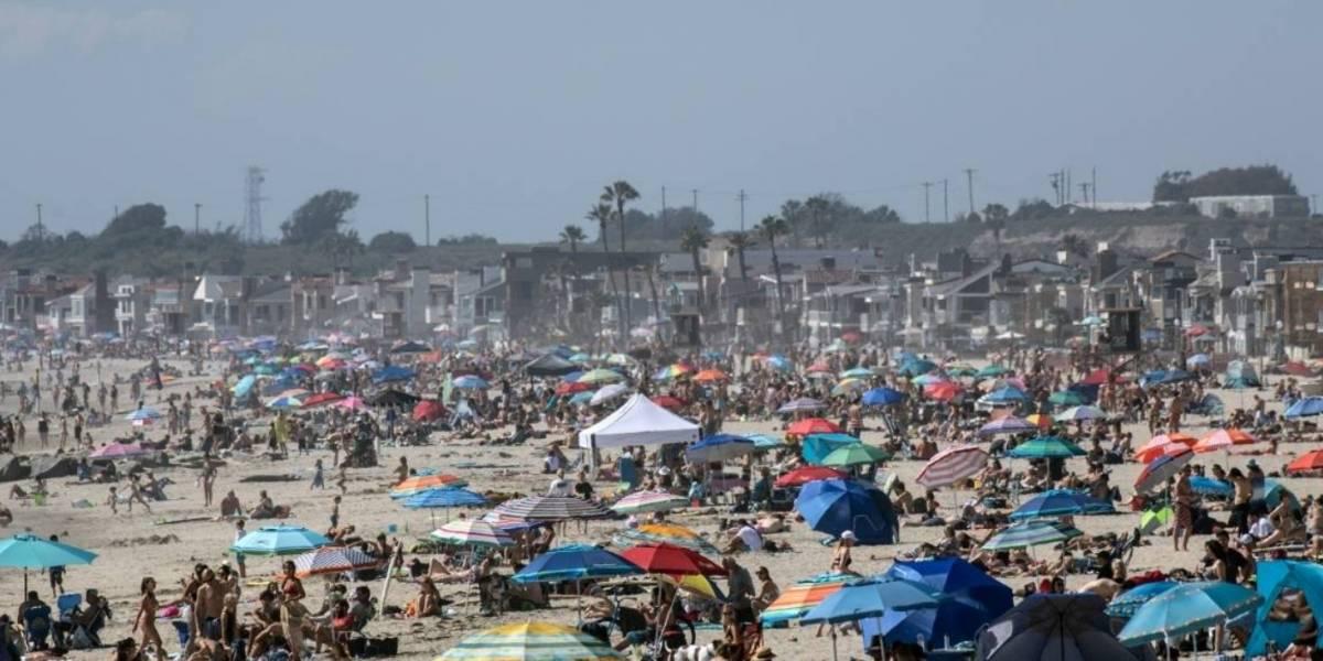 Revelan cómo se ven las playas de California, abarrotadas pese al coronavirus