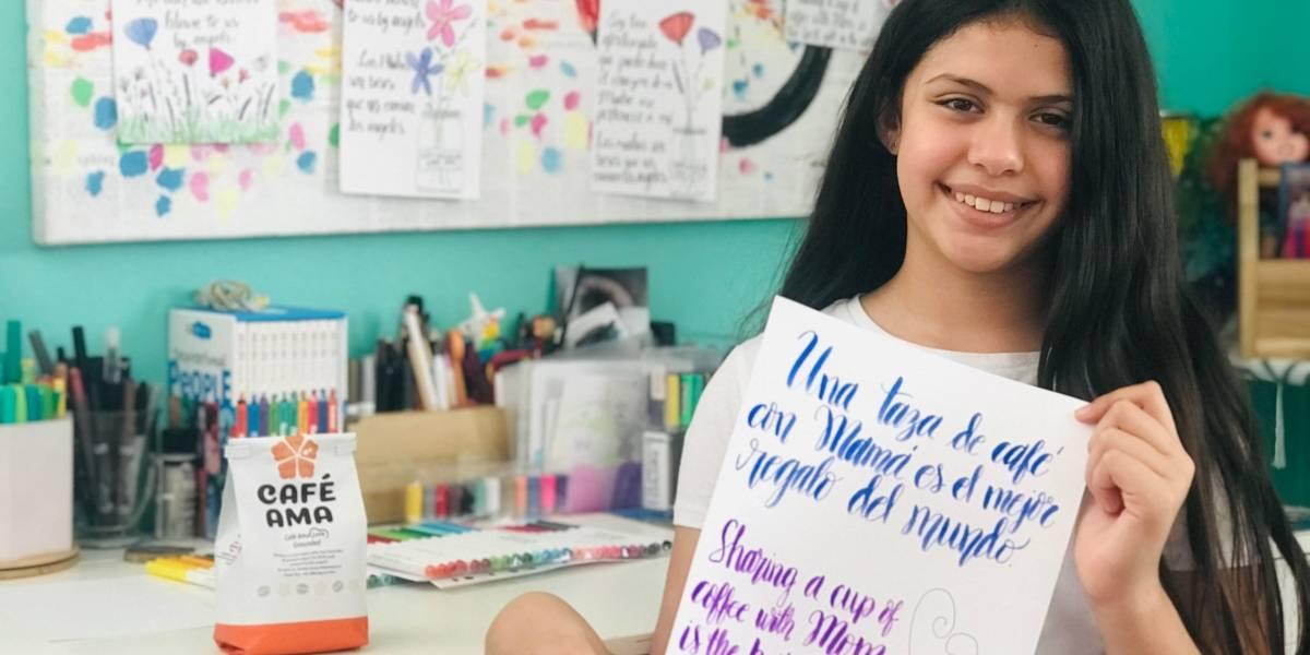 Emprendedora de 10 años honra a las madres en medio de emergencia