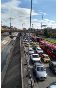 Reportan trancones en medio de la cuarentena en Bogotá