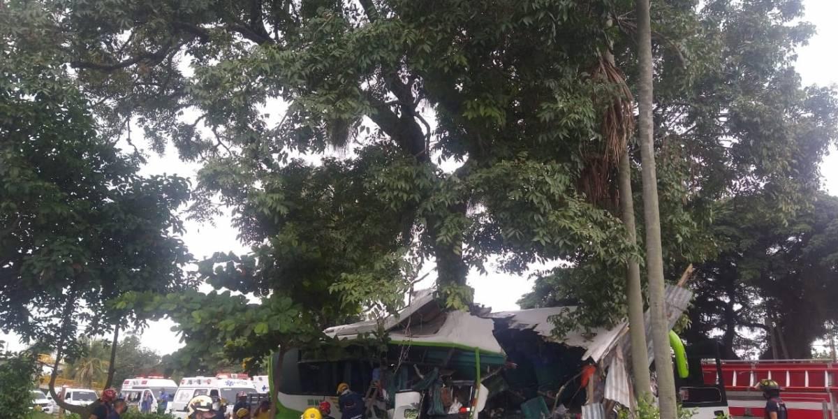 Se accidentó bus con venezolanos que iban hacia Cúcuta