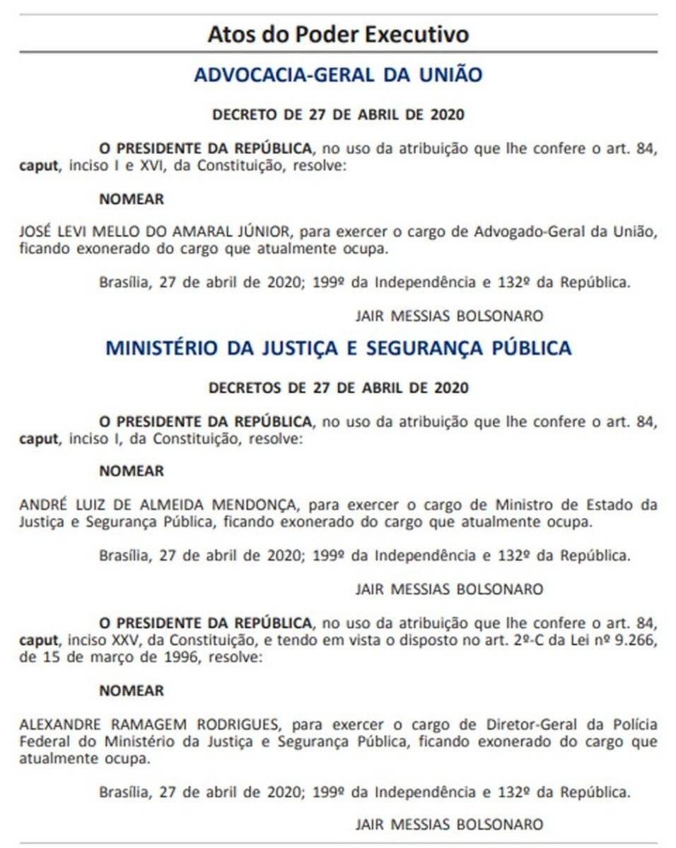 Diário Oficial da União - Terça 28/04/20
