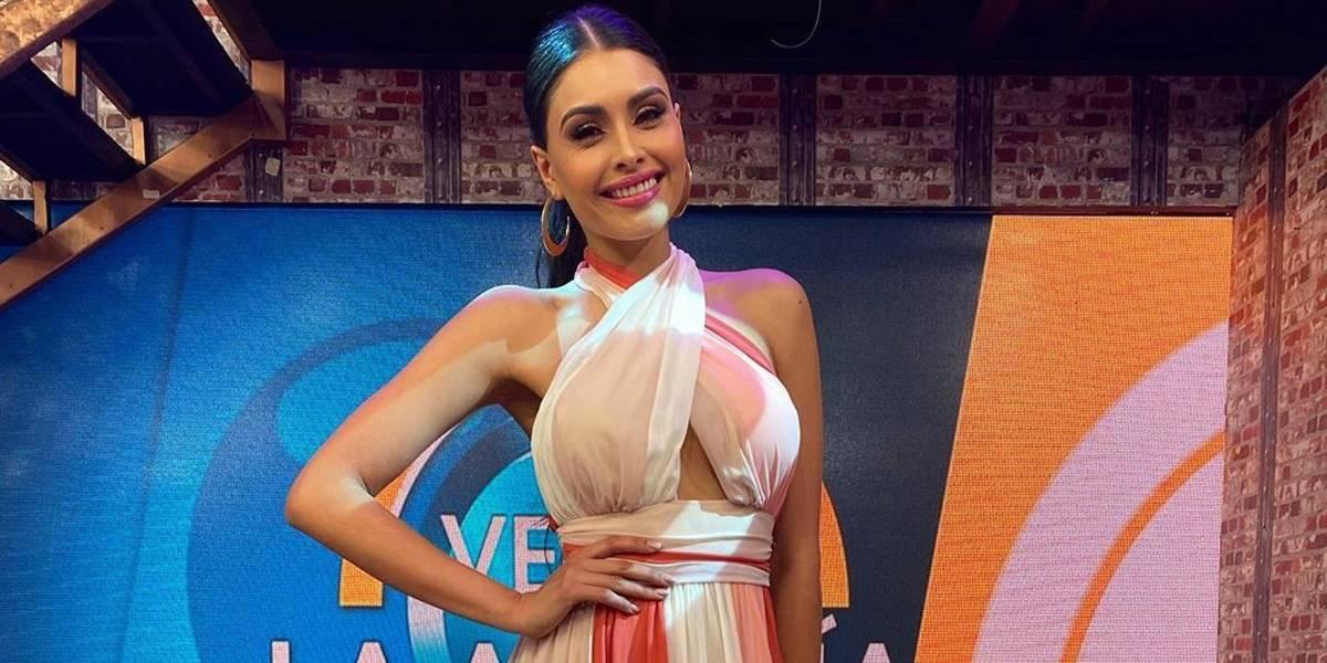 Kristal Silva enamora con un mini vestido blanco bordado con perlas