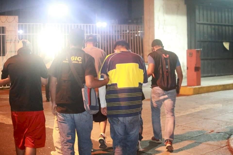menores capturados en zona 16
