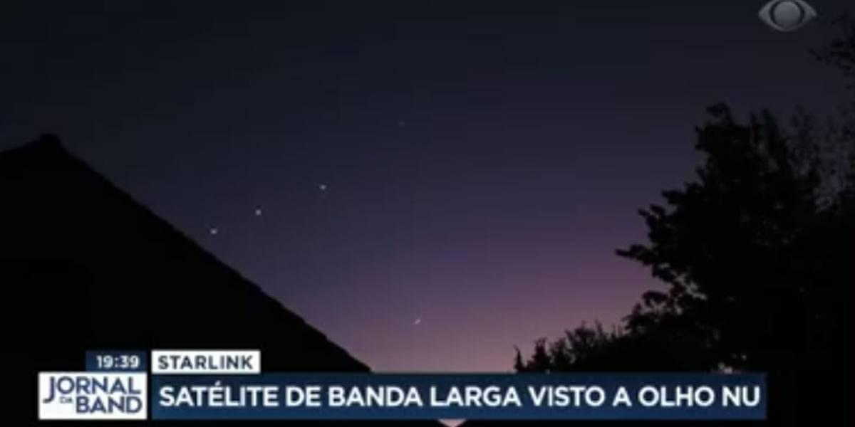 Vídeo: Show de luzes: satélites de banda larga são vistos a olho nu