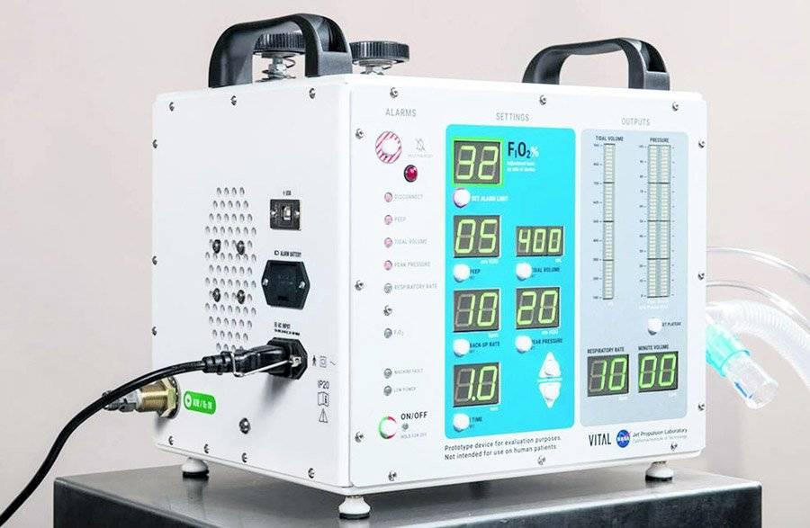 Ventilador para pacientes de Covid-19 creado por la NASA