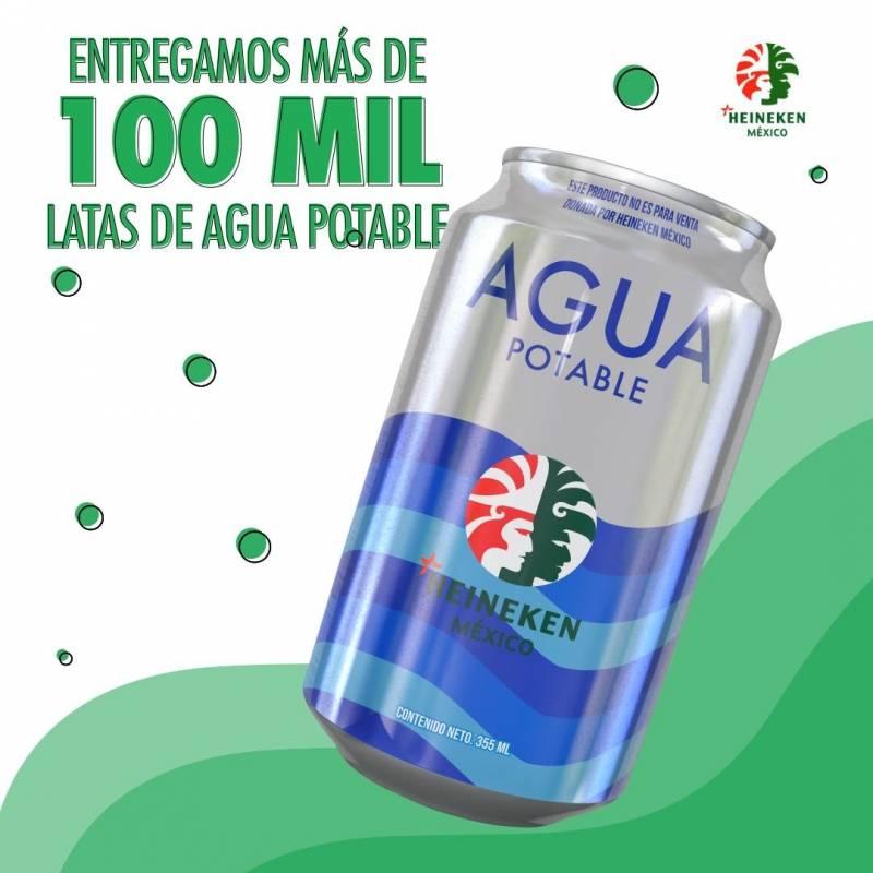Latas agua Heineken México