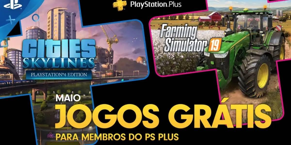 Farming Simulator 19 e Cities: Skyline são os games gratuitos de maio para PlayStation Plus