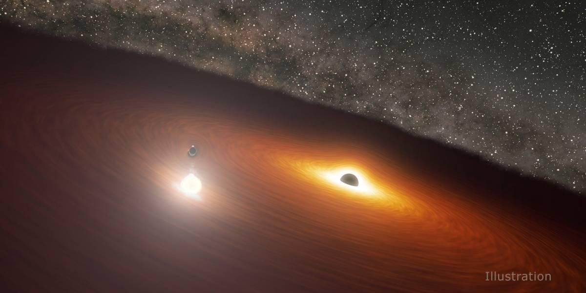 El telescopio Spitzer capta el clímax de una danza de agujeros negros