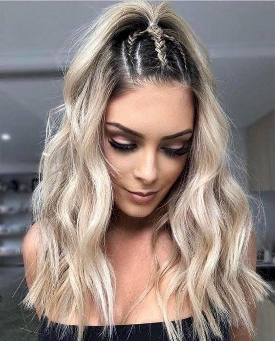 Peinados con trenzas para cara redonda