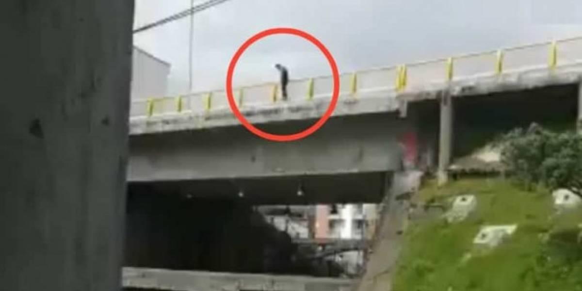 Joven se lanzó de un puente en Manizales, quedó con vida pero murió en el hospital