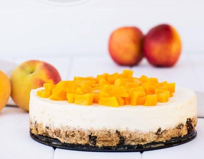 La tarta de melocotón es uno de los mejores postres fríos que existen