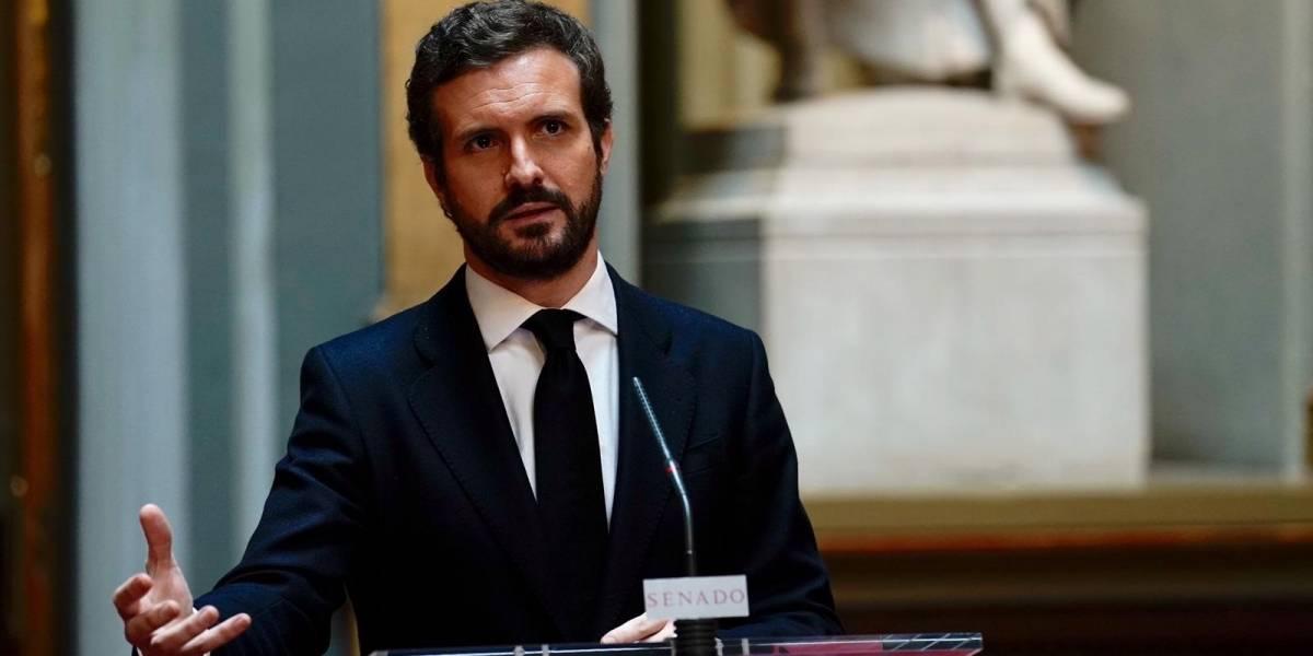 """España.- Casado dice que no puede ser """"cómplice"""" del plan de desescalada de Sánchez, """"un caos"""" que lleva a """"ruina"""""""