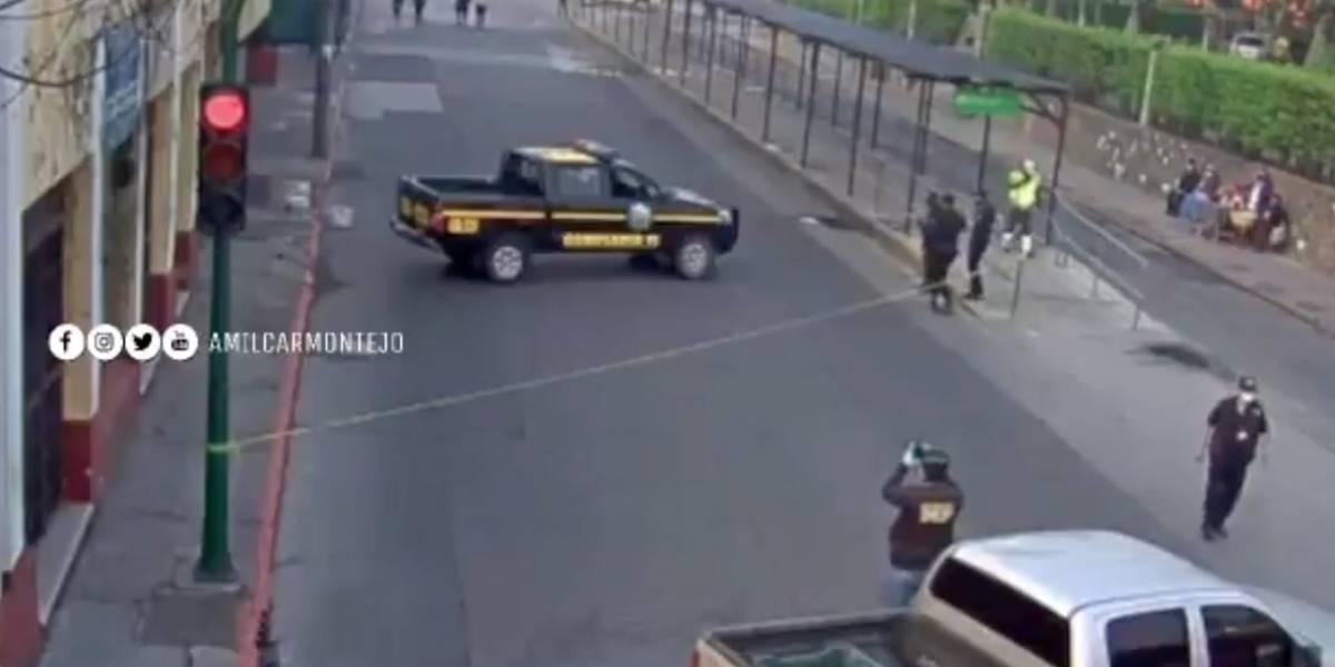 Disparan contra camión recolector en zona 1