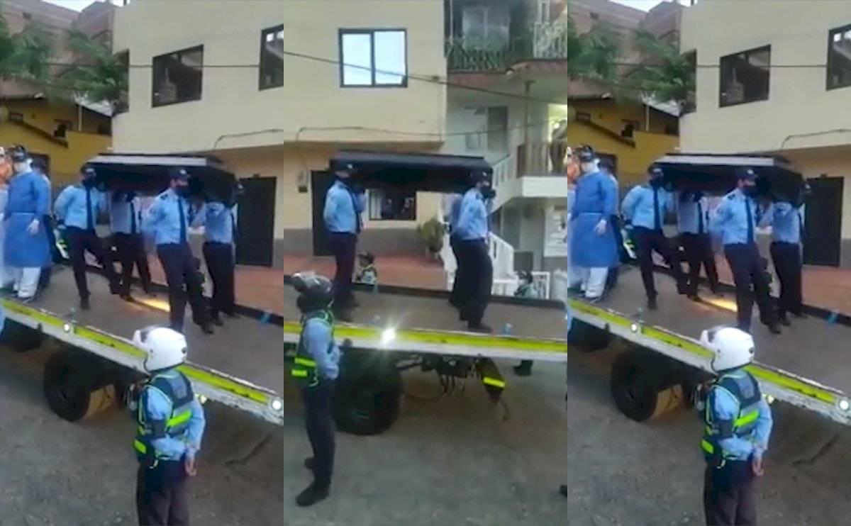 ¡Ya les gustó! La Policía colombiana usa el baile del ataúd como campaña contra el COVID-19