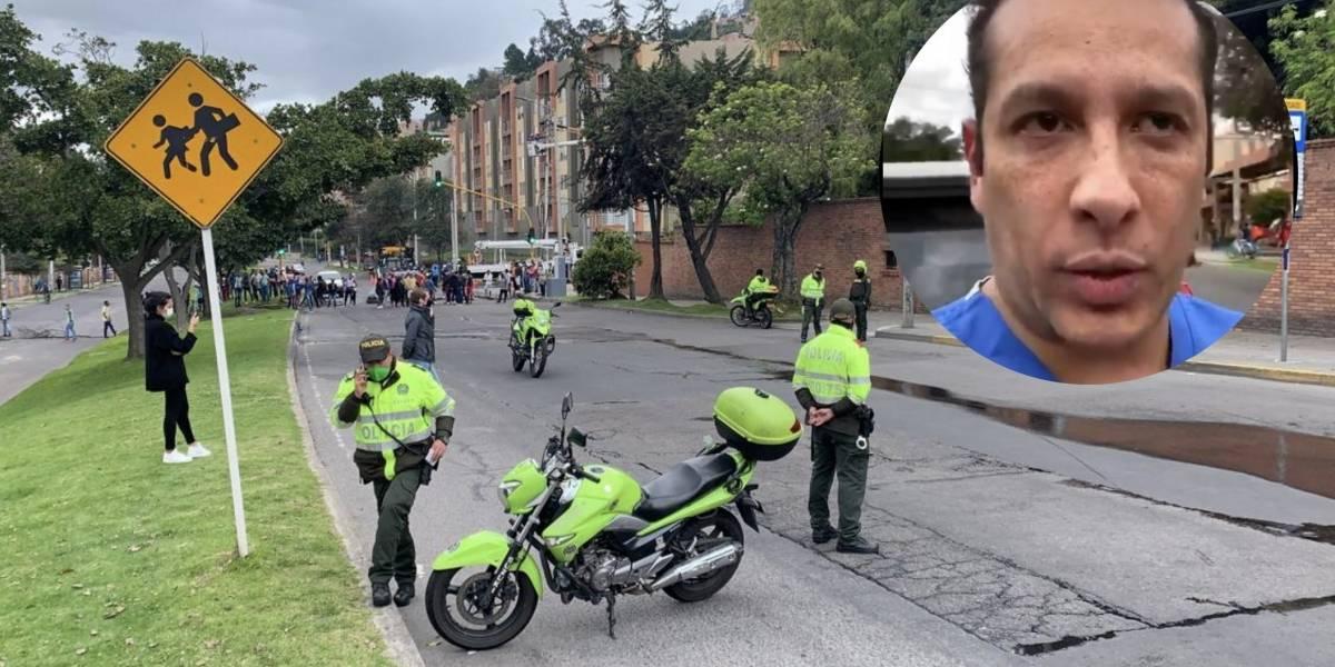Vándalos atacan a médico en el norte de Bogotá