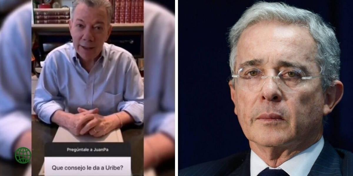 (VIDEO) Expresidente Santos envió un consejo a Álvaro Uribe por medio de su Instagram
