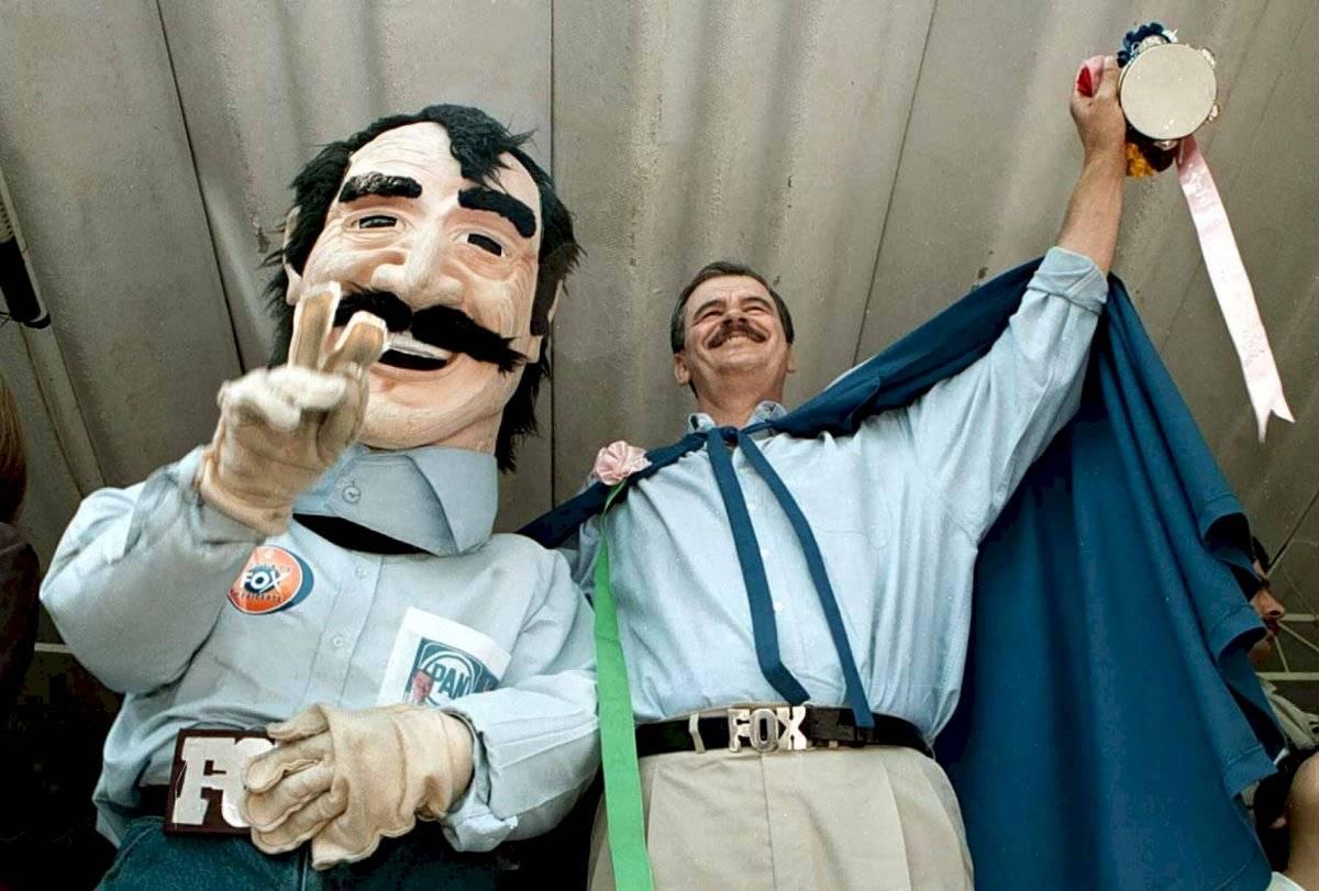 Era año electoral. Vicente Fox realizó un evento proselitista en el bosque de Tlalpan para festejar el día del niño.