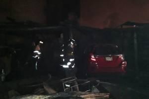 incendio en colonia Guajitos, zona 21