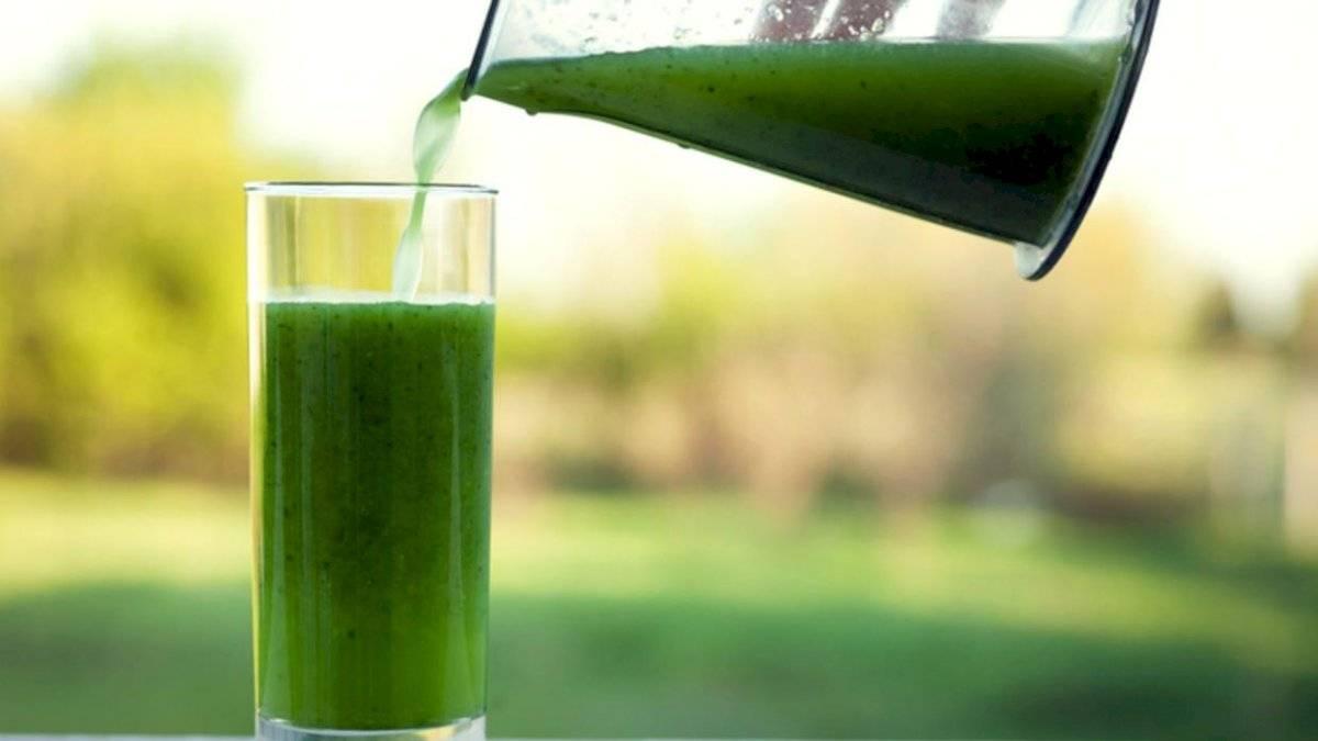 El jugo verde te ayuda a aumentar las defensas