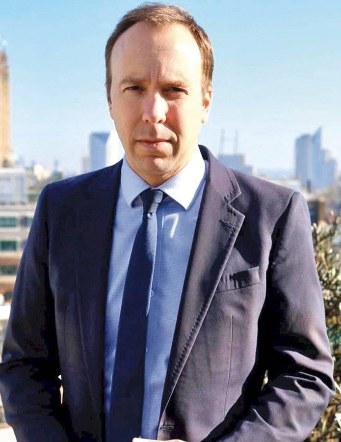 Matt Hancock, secretario de estado de Salud y Asistencia Social de Reino Unido