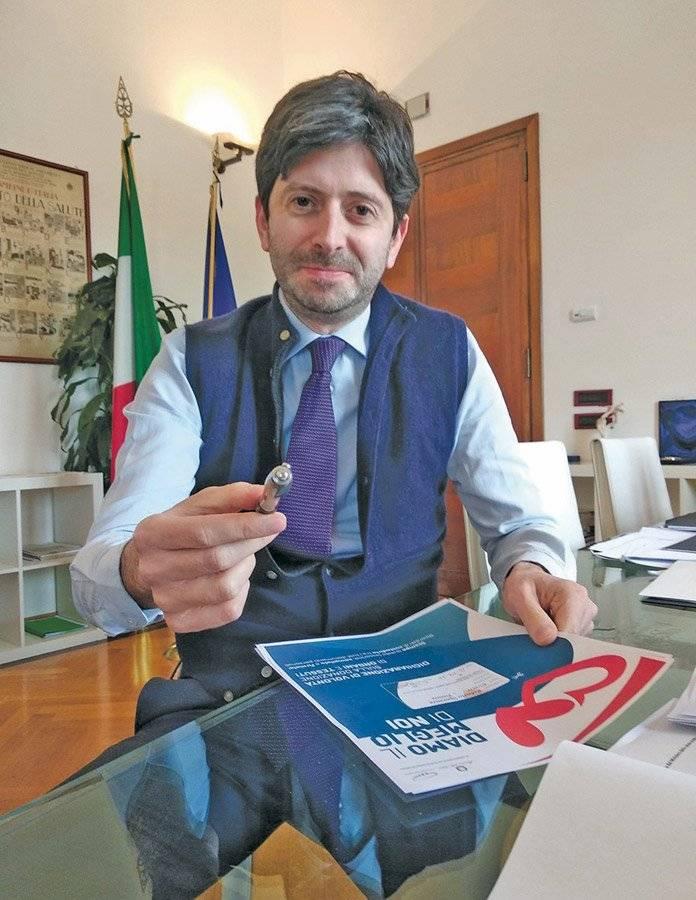 Roberto Speranza, ministro de Salud de Italia