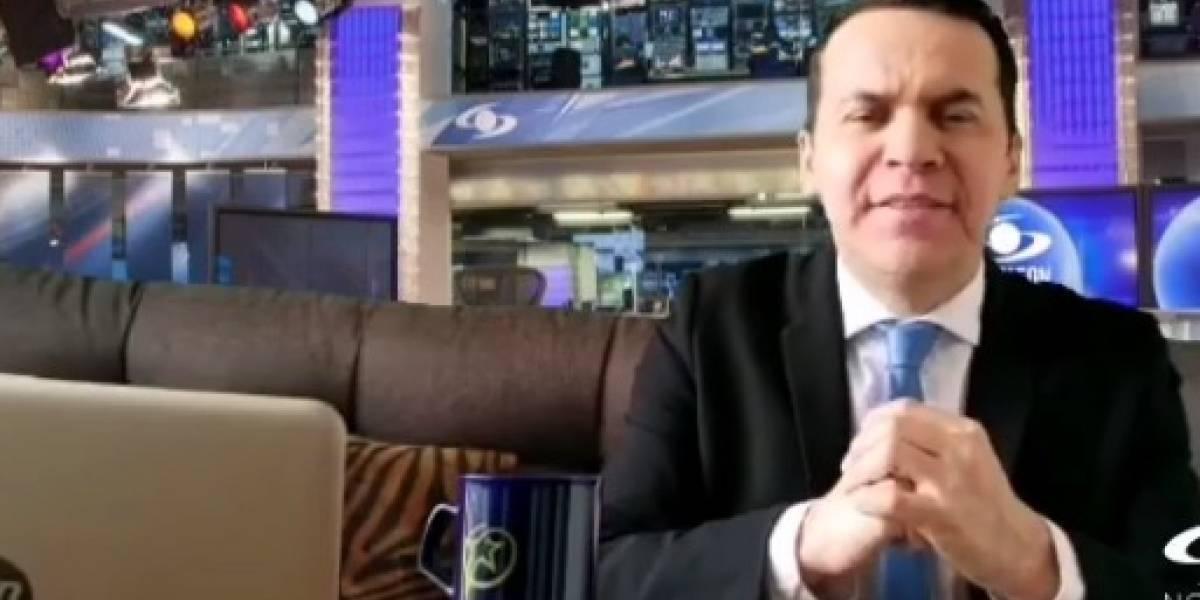 Polilla hizo burlona imitación de Juan Diego Alvira en el noticiero, ¿le gustará al presentador?